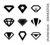 vector diamonds  brilliants ... | Shutterstock .eps vector #1064632526