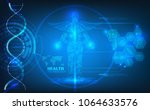 abstract technological health... | Shutterstock .eps vector #1064633576