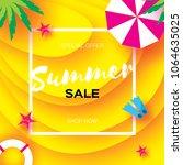 summer sale template banner.... | Shutterstock . vector #1064635025