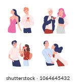 collection of women and men... | Shutterstock .eps vector #1064645432