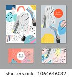 collection of creative... | Shutterstock .eps vector #1064646032