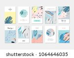 collection of creative... | Shutterstock .eps vector #1064646035