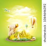 unusual 3d illustration of a... | Shutterstock . vector #1064646392