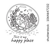 this is my happy place. hand...   Shutterstock .eps vector #1064647232