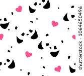 seamless pattern with pandas ... | Shutterstock .eps vector #1064650496