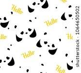 seamless pattern with pandas ... | Shutterstock .eps vector #1064650502