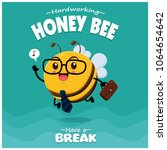 poster design with vector honey ... | Shutterstock .eps vector #1064654642