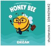 poster design with vector honey ... | Shutterstock .eps vector #1064654642