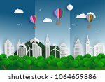 world environment day ecology... | Shutterstock .eps vector #1064659886