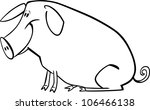 coloring page illustration of... | Shutterstock .eps vector #106466138