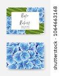 wedding invitation template... | Shutterstock .eps vector #1064663168