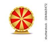 realistic 3d spinning golden...   Shutterstock .eps vector #1064665472