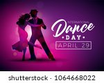 international dance day vector... | Shutterstock .eps vector #1064668022