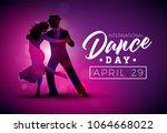 international dance day vector... | Shutterstock .eps vector #1064668022