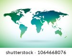 world map design on white... | Shutterstock .eps vector #1064668076