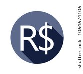 real brazil currency symbol icon | Shutterstock .eps vector #1064674106