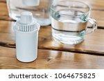 new cartridge of a water filter ... | Shutterstock . vector #1064675825