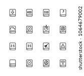 computer disk vector icon set... | Shutterstock .eps vector #1064679002