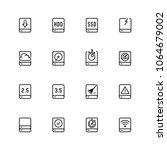 computer disk vector icon set... | Shutterstock .eps vector #1064679002