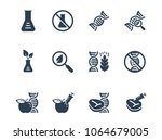 gmo related vector icon set | Shutterstock .eps vector #1064679005