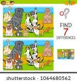 cartoon illustration of finding ... | Shutterstock .eps vector #1064680562