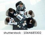 top view.business team working... | Shutterstock . vector #1064685302