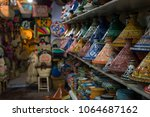 tajines in marrakesh's souk... | Shutterstock . vector #1064687162