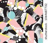 abstract blot seamless pattern. ... | Shutterstock .eps vector #1064687732