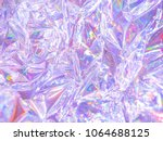 modern beautiful holographic... | Shutterstock . vector #1064688125