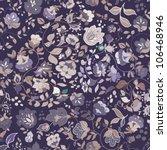 vector retro floral seamless... | Shutterstock .eps vector #106468946