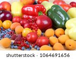 fresh  colorful fruits and...   Shutterstock . vector #1064691656