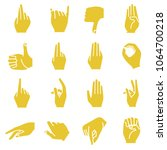 hand icons set | Shutterstock .eps vector #1064700218