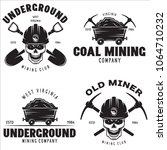 set of mining or construction... | Shutterstock .eps vector #1064710232