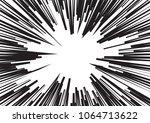 speed line fast motion... | Shutterstock . vector #1064713622