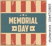 memorial day. retro background | Shutterstock .eps vector #1064713805
