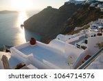 greece  santorini. view on...   Shutterstock . vector #1064714576