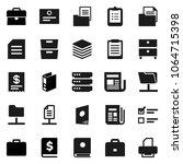 flat vector icon set   case... | Shutterstock .eps vector #1064715398