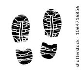 footprints and shoeprints icons ... | Shutterstock .eps vector #1064716856