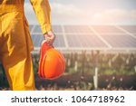 clean energy concept.electrical ... | Shutterstock . vector #1064718962