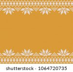 gold festive sweater design.... | Shutterstock .eps vector #1064720735