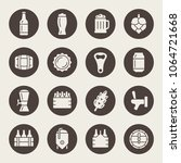 beer icon set | Shutterstock .eps vector #1064721668