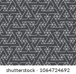 abstract geometric pattern with ... | Shutterstock .eps vector #1064724692
