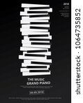 music grand piano poster...   Shutterstock .eps vector #1064735852