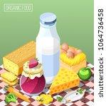 organic food isometric... | Shutterstock .eps vector #1064736458