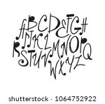 hand drawn music notes... | Shutterstock .eps vector #1064752922