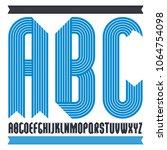 vector trendy capital alphabet...   Shutterstock .eps vector #1064754098