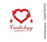 vector illustration of heart...   Shutterstock .eps vector #1064755742