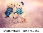 valentines day. two toy bears | Shutterstock . vector #1064762552