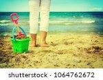 plastic children toys on the... | Shutterstock . vector #1064762672