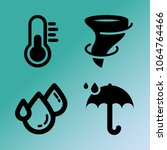vector icon set about weather...   Shutterstock .eps vector #1064764466